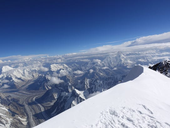 Vanessa O'Brien's view from the summit of K2.