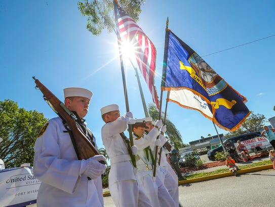Members of the Fort Myers Beach Division Sea Cadet
