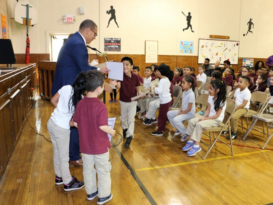 Cook School honor roll students recognized during Assembly.