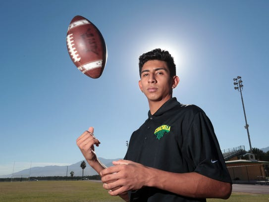 Coachella Valley senior Armando Deniz is a member of the 2017 First Team All-Desert Sun football team.