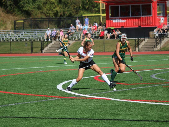 Oneonta State's Natalie Longo (Maine-Endwell) had four