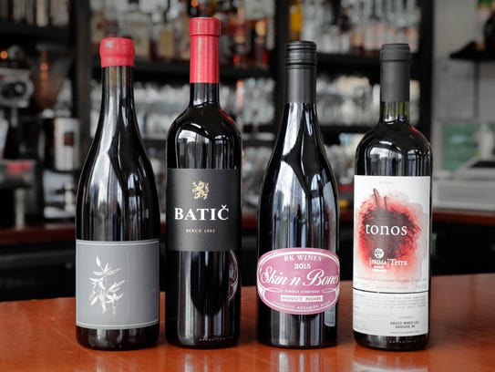 Some of the red wines at  Strange Town, which focuses