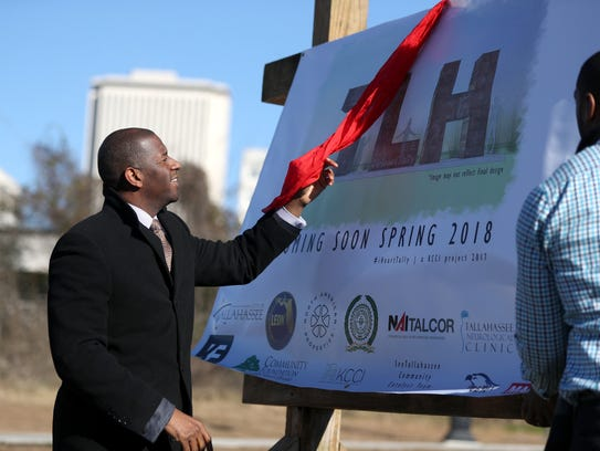 Mayor Andrew Gillum unveils plans for a sculpture along