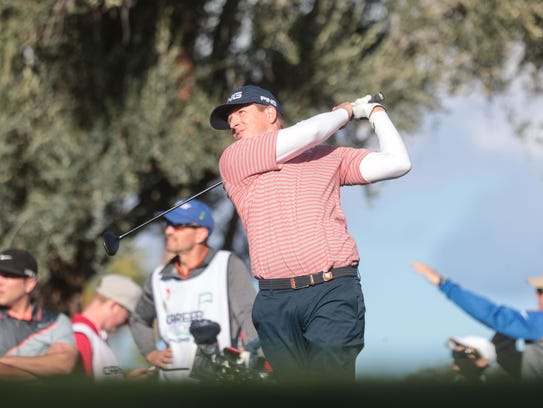 Martin Piller prepares tees off on 9 at La Quinta Country