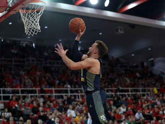Marquette senior guard Andrew Rowsey has made 81 three-pointers