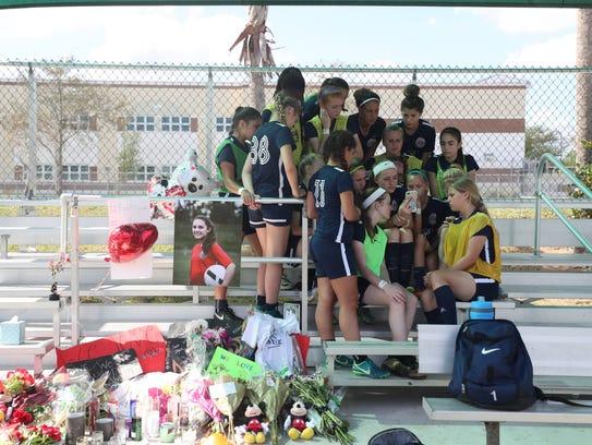Parkland Soccer Club teammates of Alyssa Alhadeff remembered