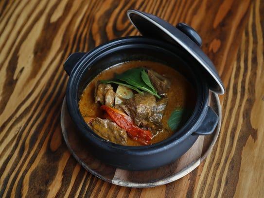 Panang Curry Beef dish at Glai Baan, a Thai restaurant