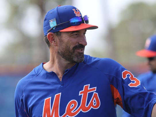 The Mets workout this morning.  Manager Mickey Callaway