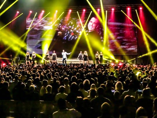 German pop star Michael Wendler packs arenas back home