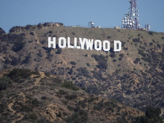 The iconic Hollywood sign, as photographed from an