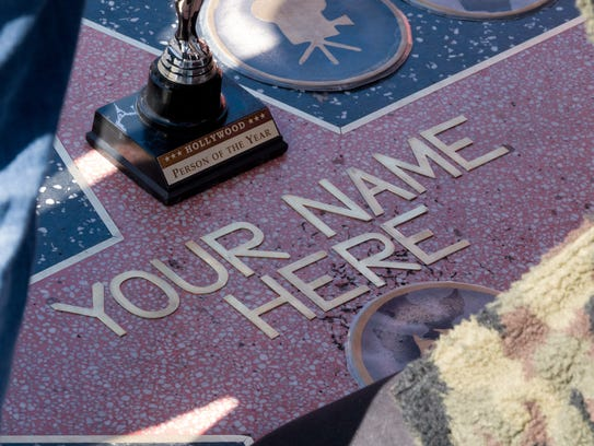 Your Name could be here on a Hollywood star, on a star