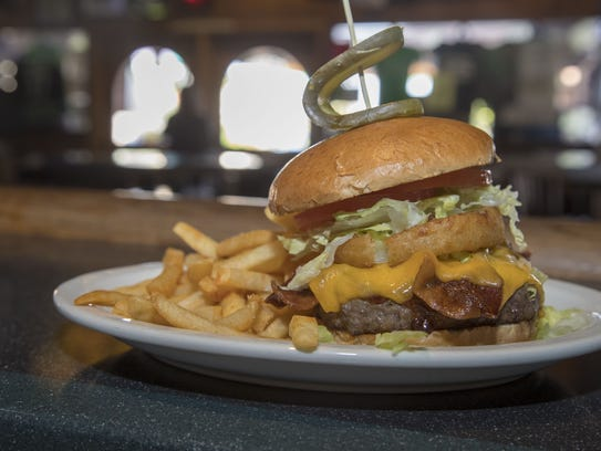 One of the burgers served at Padre Murphy's. Tom and