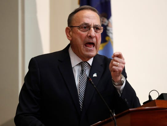 In this Feb. 13, 2018, file photo, Gov. Paul LePage