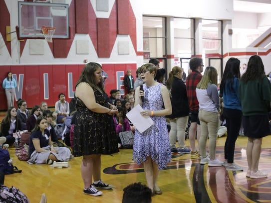 Pineville High Seniors Emma Kinberger (left) and Megan