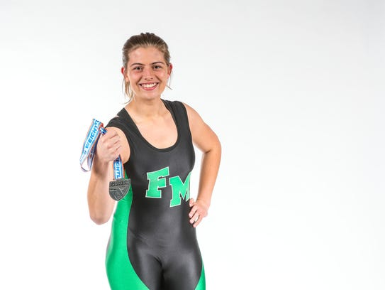 Winter All-Area Athletes portraits Girls Weightlifting: