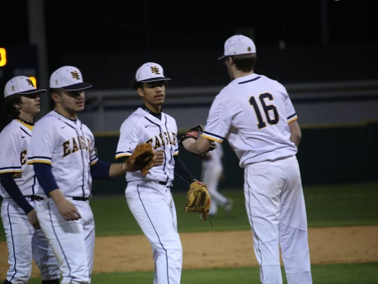 Northeast High's infield prepares for the start of