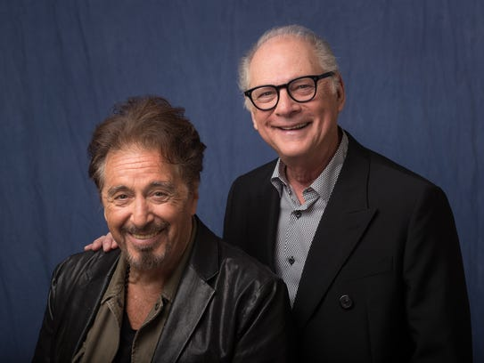 Al Pacino, left, plays the title role in HBO's 'Paterno,'