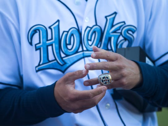Corpus Christi Hooks employees receive their Houston