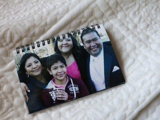 A family photograph taken at Laura and Gerardo's wedding.