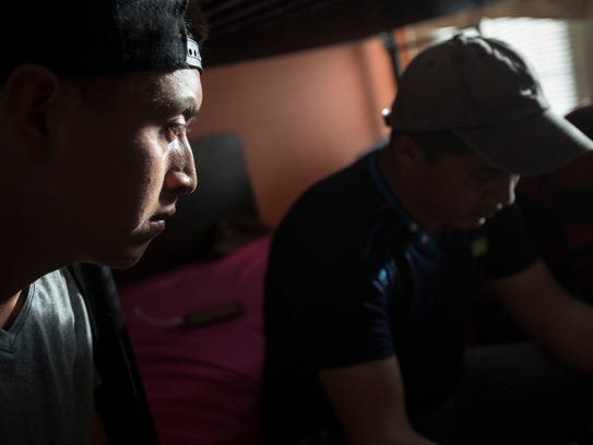 From left to right Luis Guamuch, 26 and Edwin Hernandez,
