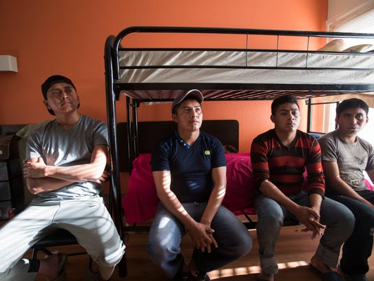 From left to right Luis Guamuch, 26, Edwin Hernandez,