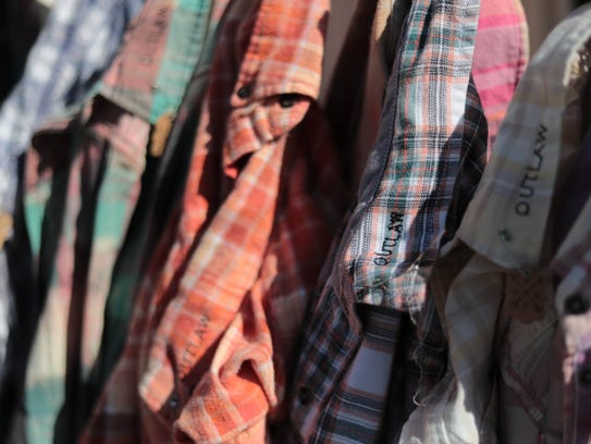 Apr 28, 2018; Indio, CA, USA;  Flannels are sold in