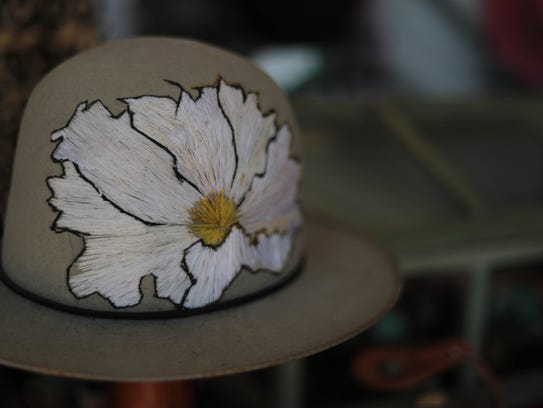 Apr 28, 2018; Indio, CA, USA;  An embroidered hat is