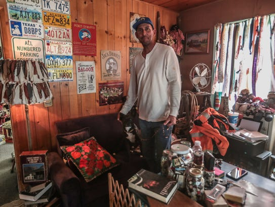 Paul Ramos owns the Barn Stop Antique Store in Anza