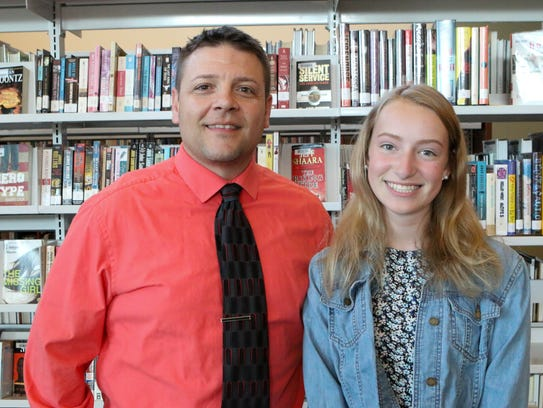 Megan Martin, right, with Mentor Tim Refi.