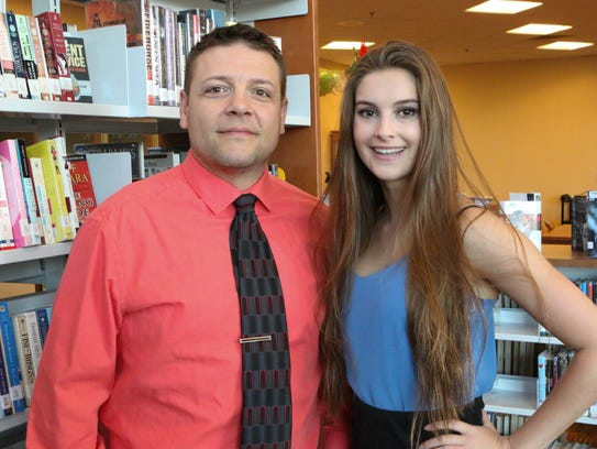 Alexis McHugh, right, with Mentor Tim Refi.