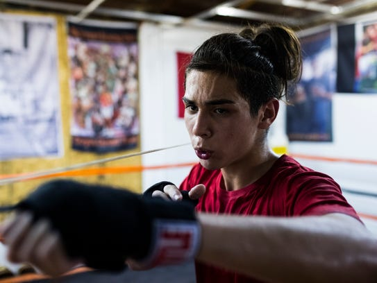 Jesse Garza trains for the state Junior Olympic championship