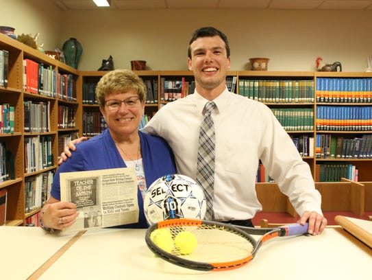 Mason Bennetch, right, with Mentor Nan Gift.