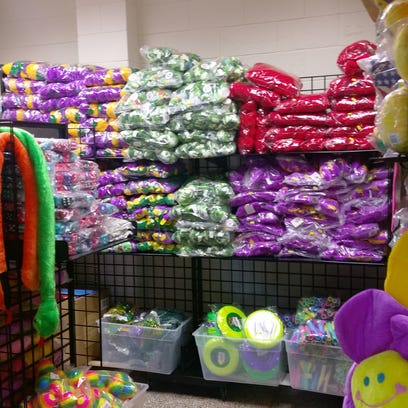 Beads, throws and any other Mardi Gras accouterments