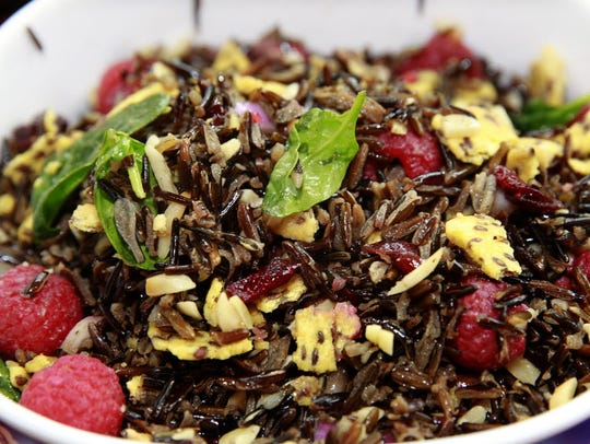 Wild Rice, Almond, Spinach and Berry Salad would add