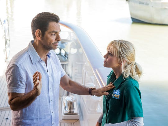 "Eugenio Derbez, left, and Anna Faris star in ""Overboard."""