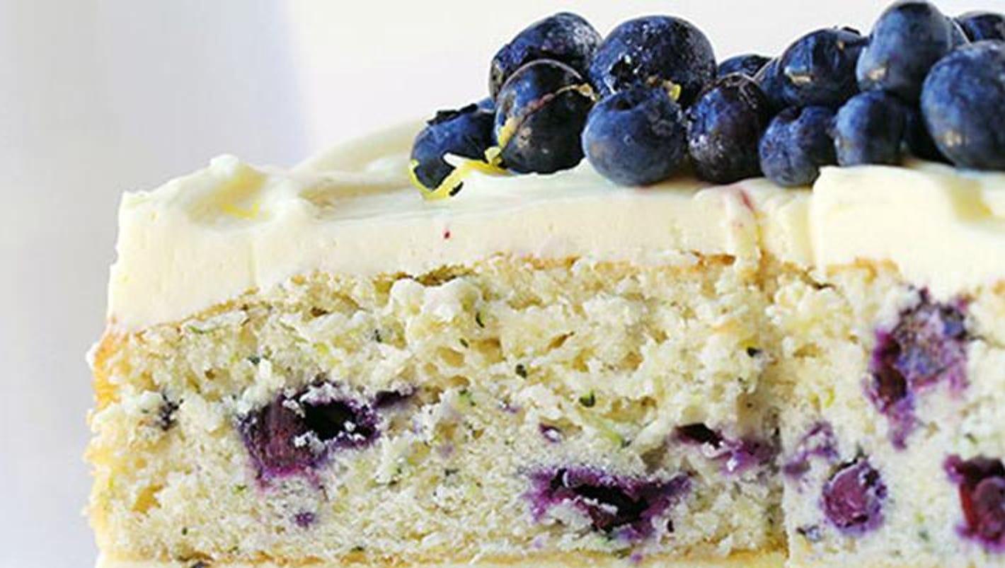 Blueberry Zucchini Lemon Cake