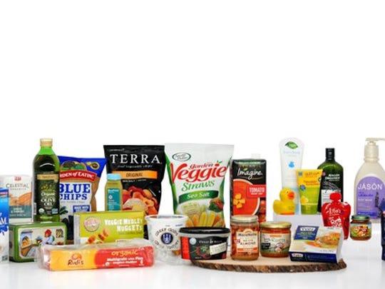 Dozens of Hain Celestial brand products such as Veggie Straws, Imagine Tomato soup, Tilda, and Rice Dream