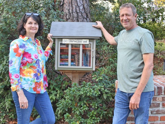 Amy and Michael Bowman's LFL at the bus stop on the