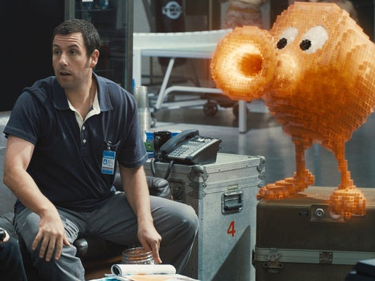 """Pixels"" star Adam Sandler shares screen time with"