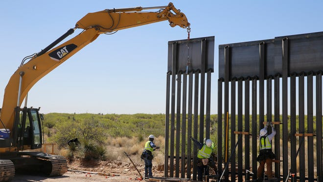 "A new $73 million bollard wall along a 20-mile portion of existing fence is going up along the U.S.-Mexico border in Santa Teresa, N.M. The construction of the ""president's border wall"" began April 9 and is moving swiftly. Construction of the wall, which will replace existing posts that serve as vehicle barriers in the area, is expected to be completed by March. The wall will stand 18 feet to 30 feet tall in different areas, depending on the terrain. ""It is going help maintain a secure border. It is going to establish the operational control that the president has mandated,"" U.S. Border Patrol El Paso Sector Chief Aaron Hull said when construction was officially announced."