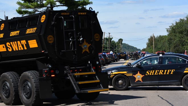 A man is dead of an apparent self-inflicted gunshot wound after the Licking County Sheriff's Office SWAT team responded to a situation Tuesday on Ohio 13.
