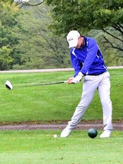 Cooper Hausfeld of Wyoming fired a 69 to lead the pack in Division 2 Sectional Play at Sharon Woods, September 29, 2016.