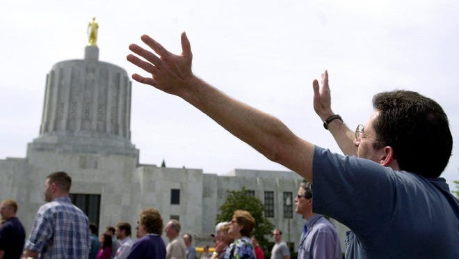 People gather in prayer during a previous National Day of Prayer gathering at the Capitol Mall. This year, National Day of Prayer will be held on Thursday, May 3.