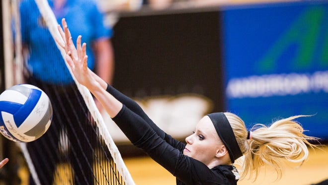 Anderson University and T.L. Hanna product Rachel Burts leads the South Atlantic Conference in hitting percentage.
