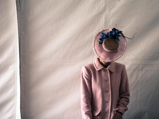 Donna Sloan wears a Sassy Millinery hat from Australia