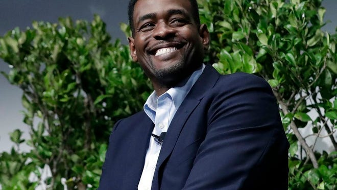 """In this Jan. 24, 2017, file photo, former NBA basketball player Chris Webber attends a sports and activism panel entitled """"From Protest to Progress: Next Steps"""" in San Jose, Calif."""