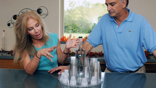 Carol and Nick Kafkalas, owners of of The Lazy Eye Distillery in Richland, talk about their gluten-free vodka.