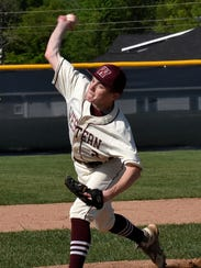 Western Hills pitcher Max Heinecke delivers the game