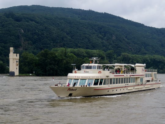 There are about 40 castles on the 40-mile stretch of the Rhine Gorge in Germany.
