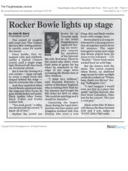 John Barry's review of David Bowie's 2003 concert at The Chance in Poughkeepsie.